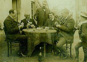 Partie de cartes à Graçay - vers 1904 (BOUCHARD)