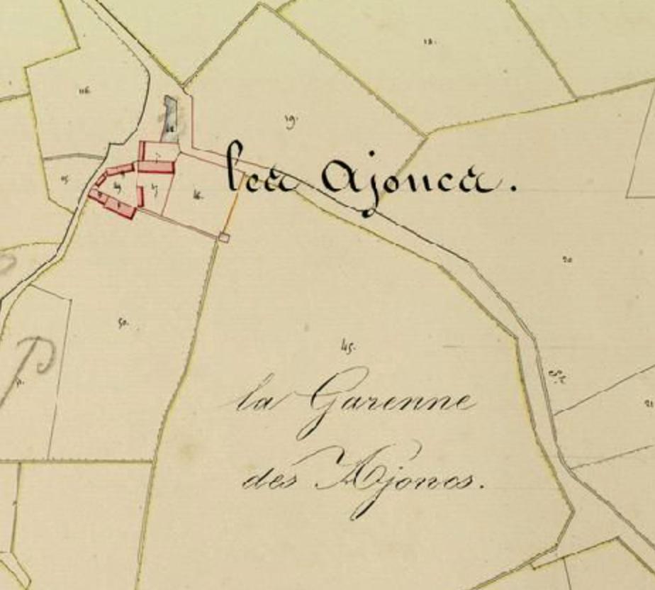 Les Ajoncs - Cadastre 1833