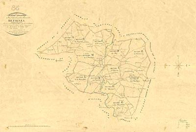 Béthines - Cadastre 1833
