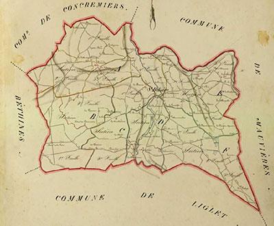 Saint-Hilaire-sur-Benaize - Cadastre 1833