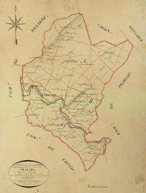 Chalais - Cadastre 1833