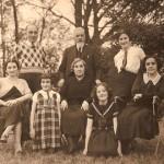 Marie MARÉCHAL, Marc MICHON, Eugénie CERTAIN, Eugène MICHON, Jacqueline MICHON + 2 femmes non identifiées